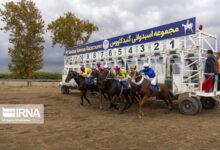تصویر هفته نهم مسابقات اسبدوانی گنبدکاوس برگزار شد